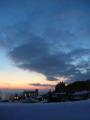 初日の夕陽